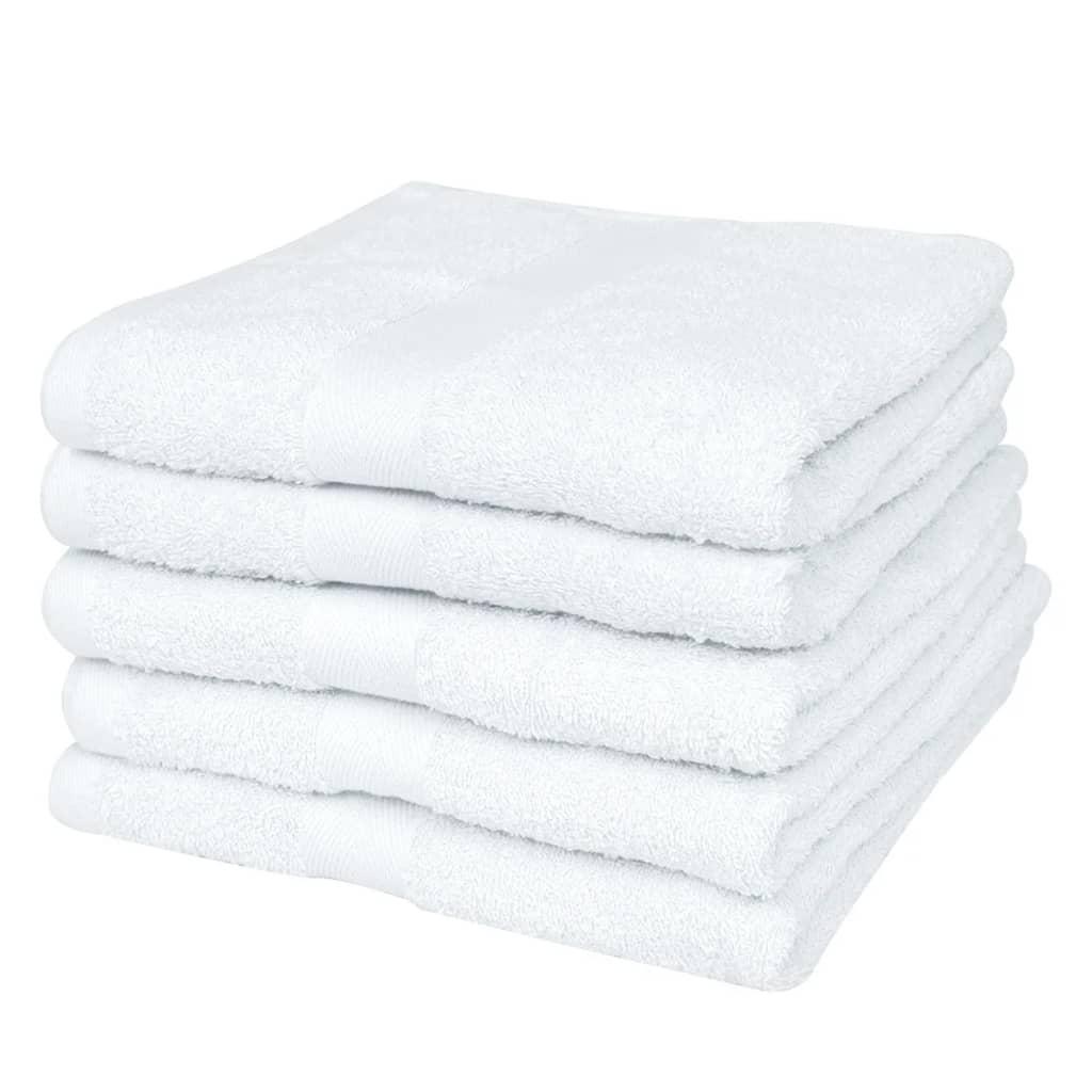 Sada saunových osušek 25 ks bavlna 400 g/m² 80 x 200 cm bílá