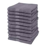 vidaXL Home Guest Towel Set 10 pcs Cotton 500 gsm 30x50 cm Anthracite