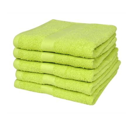 vidaXL håndklædesæt 5 stk. bomuld 500 gsm 50x100 cm æblegrøn[2/2]