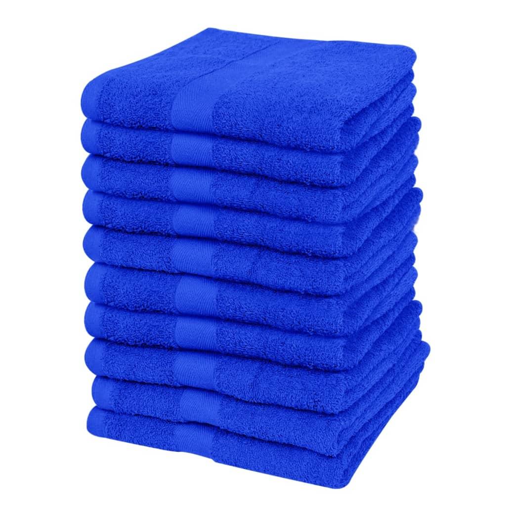 Ručník pro hosty královská modř 100% bavlna 500gsm, 30x50cm, sada 5 ks