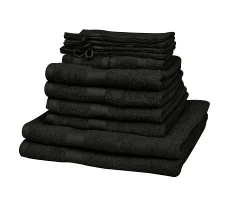 heim handtuch set 12 stk 100 baumwolle 500 g m schwarz g nstig kaufen. Black Bedroom Furniture Sets. Home Design Ideas