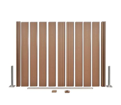 acheter vidaxl panneau de jardin 2 pcs bois composite carr marron 392 cm pas cher. Black Bedroom Furniture Sets. Home Design Ideas