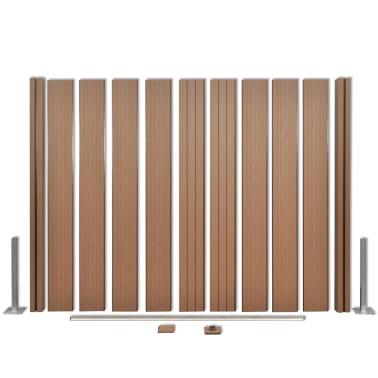 acheter vidaxl panneau de jardin 3 pcs bois composite carr marron 583 cm pas cher. Black Bedroom Furniture Sets. Home Design Ideas