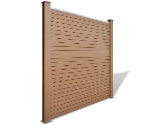 acheter vidaxl panneau de jardin 4 pcs bois composite carr marron 774 cm pas cher. Black Bedroom Furniture Sets. Home Design Ideas