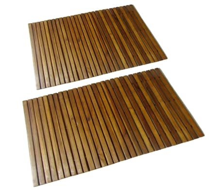 vidaXL Badmat 80x50 cm acaciahout 2 st[1/4]