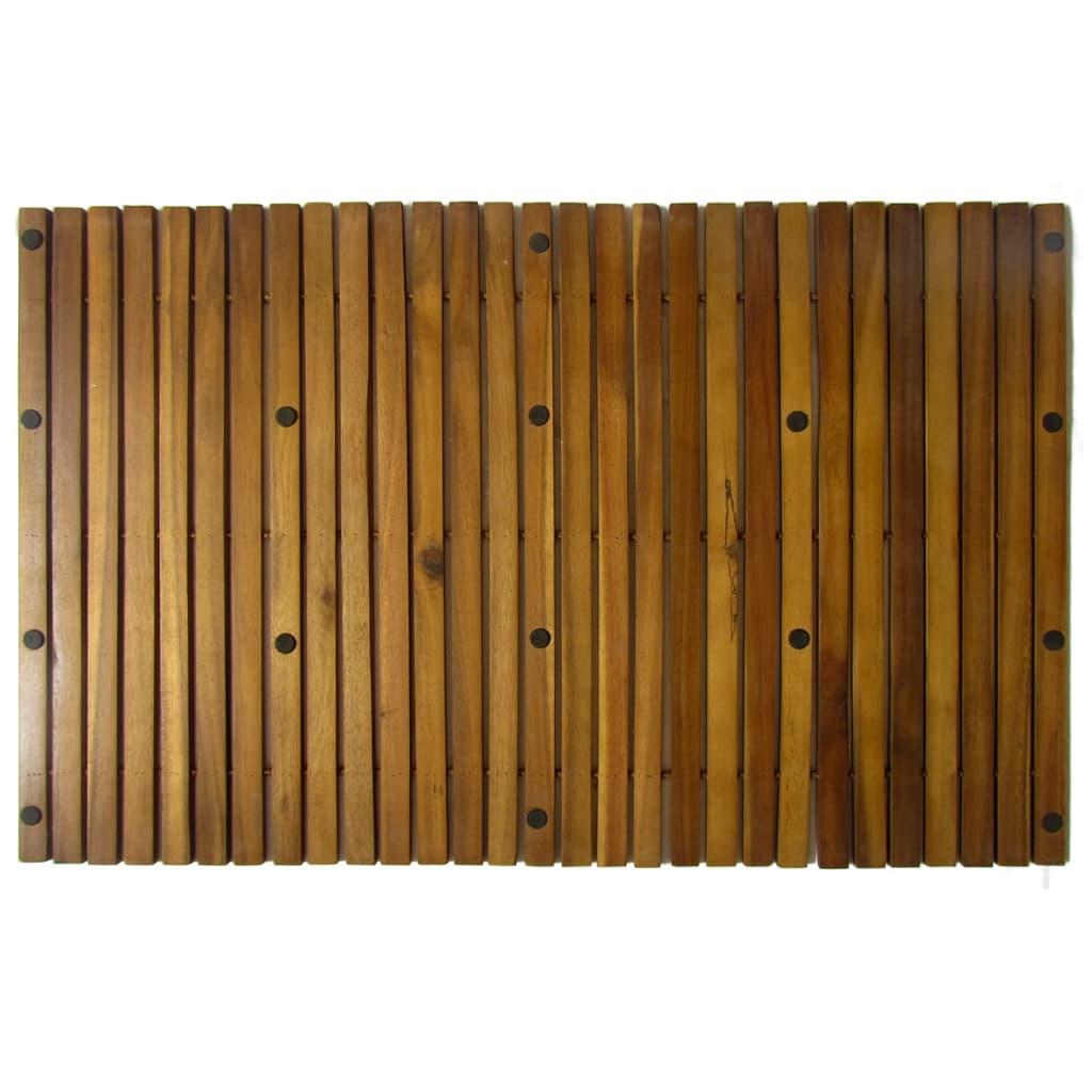 Kupaonski otirač od bagremovog drveta 2 kom 80 x 50 cm