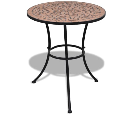 vidaXL Mobilier de bistro 3 pcs Carreaux céramiques Terre cuite[2/12]