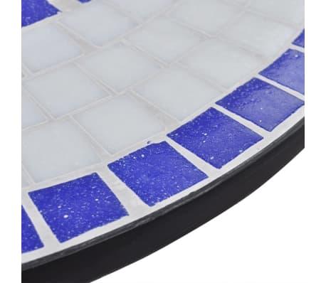 vidaXL 3-cz. zestaw mebli bistro z mozaiką niebiesko-białą[5/12]
