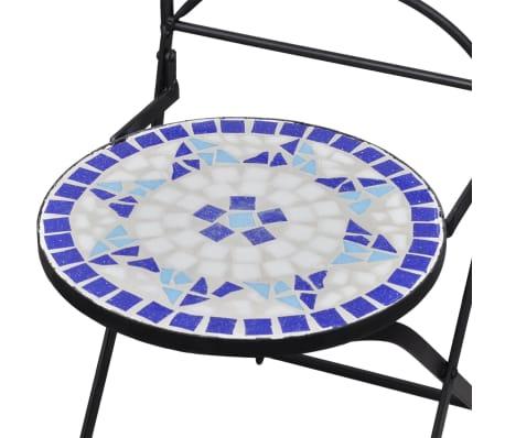 vidaXL 3-cz. zestaw mebli bistro z mozaiką niebiesko-białą[9/12]