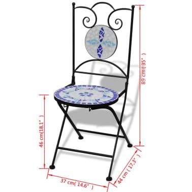 vidaXL Caféset 3 delar keramik blå och vit[12/12]