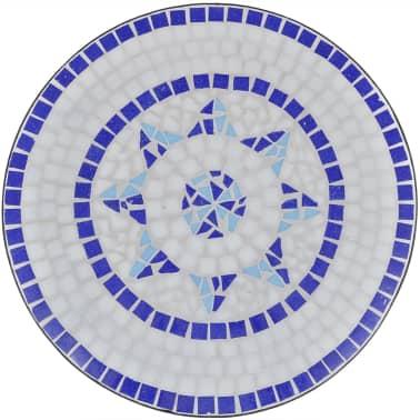 vidaXL 3-cz. zestaw mebli bistro z mozaiką niebiesko-białą[4/12]