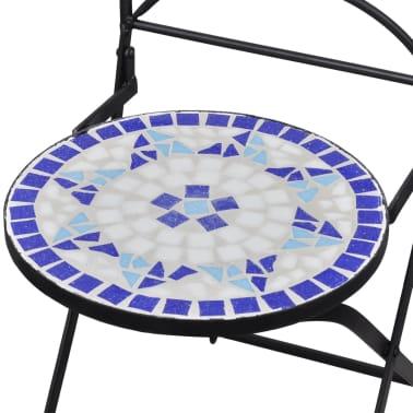 vidaXL Caféset 3 delar keramik blå och vit[9/12]