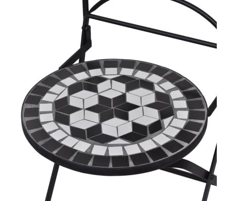 vidaXL 3-cz. zestaw mebli bistro z mozaiką czarno-białą[5/12]