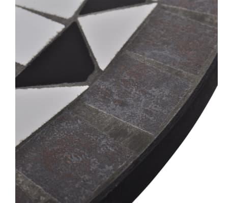 vidaXL 3-cz. zestaw mebli bistro z mozaiką czarno-białą[9/12]