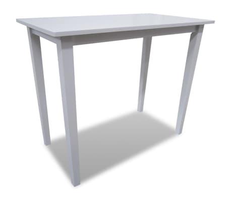 vidaXL bāra galds, koks, balts