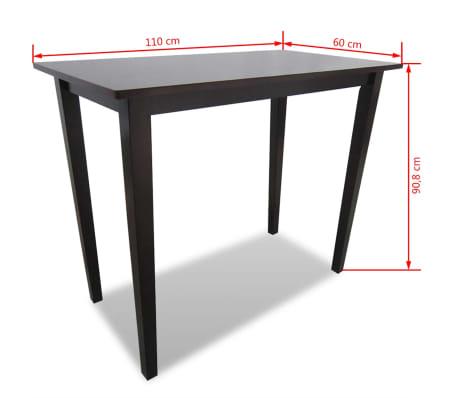 vidaXL bāra galds, koks, brūns[4/4]