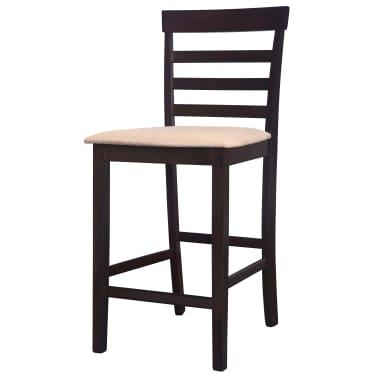 vidaXL bāra krēsli, 2 gab., koks, brūni ar bēšu [6/8]
