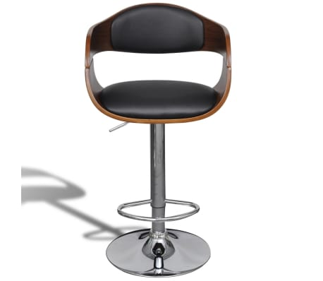 Superb Vidaxl Swivel Bar Stool Bent Wood And Faux Leather Pabps2019 Chair Design Images Pabps2019Com