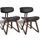 vidaXL Dining Chairs 2 pcs with Bentwood Frame Artificial Leather
