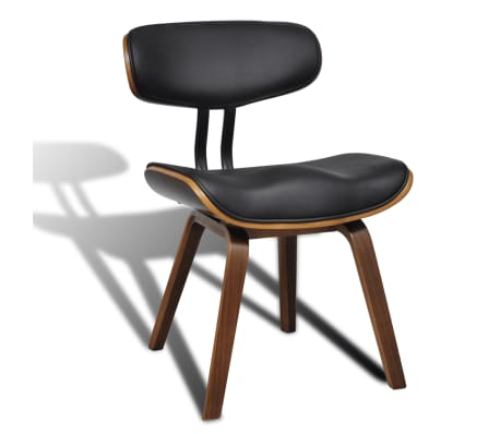 vidaXL Dining Chairs 2 pcs with Bentwood Frame Artificial Leather[3/6]