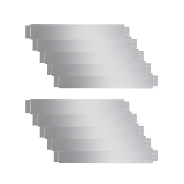 vidaXL Set 10 pz Bordo prato flessibile in acciaio galvanizzato 100 x 15 cm[2/8]