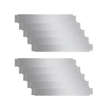"vidaXL Set of 10 Flexible Lawn Fence Galvanized Steel 39.4"" x 5.9""[2/8]"