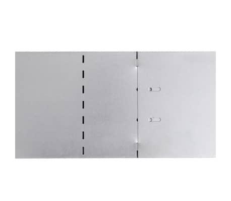 "vidaXL Set of 10 Flexible Lawn Fence Galvanized Steel 39.4"" x 5.9""[6/8]"
