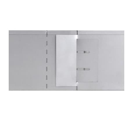 "vidaXL Set of 10 Flexible Lawn Fence Galvanized Steel 39.4"" x 5.9""[7/8]"