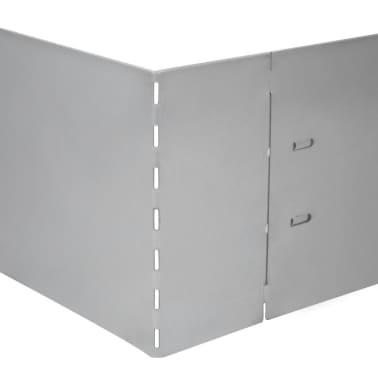 "vidaXL Set of 10 Flexible Lawn Fence Galvanized Steel 39.4"" x 5.9""[5/8]"