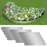 vidaXL Set of 15 Flexible Lawn Fence Galvanised Steel 100 x 15 cm