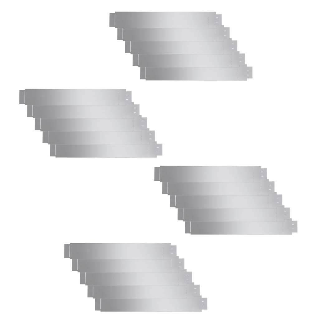 Afbeelding van vidaXL Grasboord flexibel 100x15 cm 20 stuks gegalvaniseerd staal
