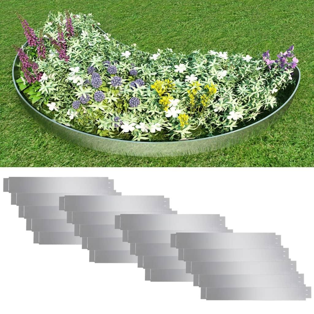 Set 20 separatoare flexibile peluză oțel galvanizat 100 x 15 cm imagine vidaxl.ro
