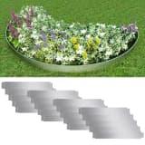 vidaXL Set of 20 Flexible Lawn Fence Galvanised Steel 100 x 15 cm