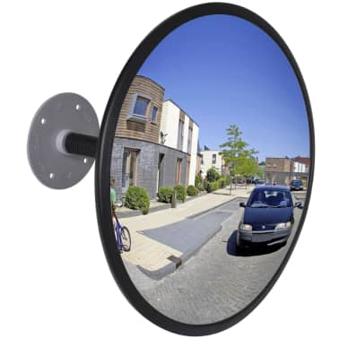 "Convex Traffic Mirror Acrylic Black 12"" Indoor[1/4]"