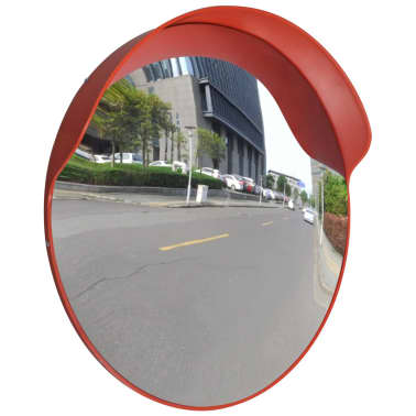 "Convex Traffic Mirror PC Plastic Orange 24"" Outdoor[1/5]"