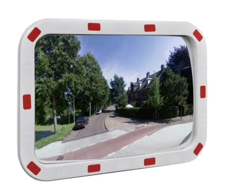"Convex Traffic Mirror Rectangle 16"" x 24"" with Reflectors[1/5]"