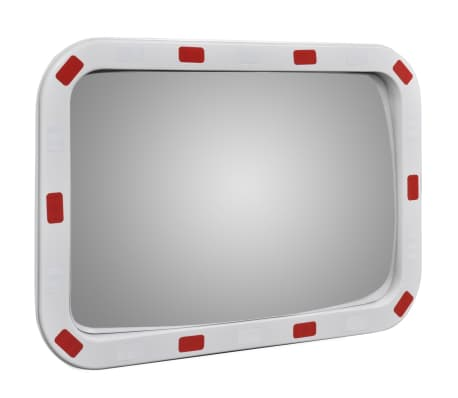 "Convex Traffic Mirror Rectangle 16"" x 24"" with Reflectors[3/5]"