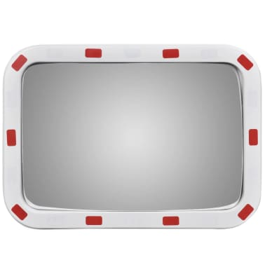 "Convex Traffic Mirror Rectangle 16"" x 24"" with Reflectors[2/5]"