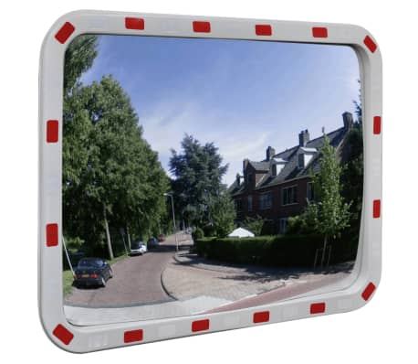 "Convex Traffic Mirror Rectangle 24"" x 31"" with Reflectors[1/6]"