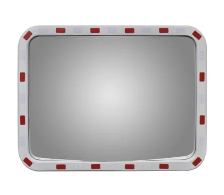 "Convex Traffic Mirror Rectangle 24"" x 31"" with Reflectors[2/6]"