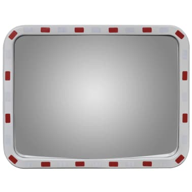 Convex Traffic Mirror Rectangle 60 x 80 cm with Reflectors[2/6]