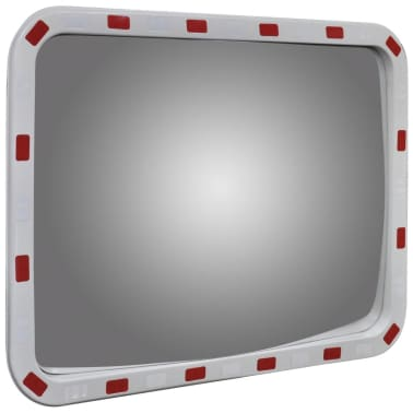 "Convex Traffic Mirror Rectangle 24"" x 31"" with Reflectors[3/6]"