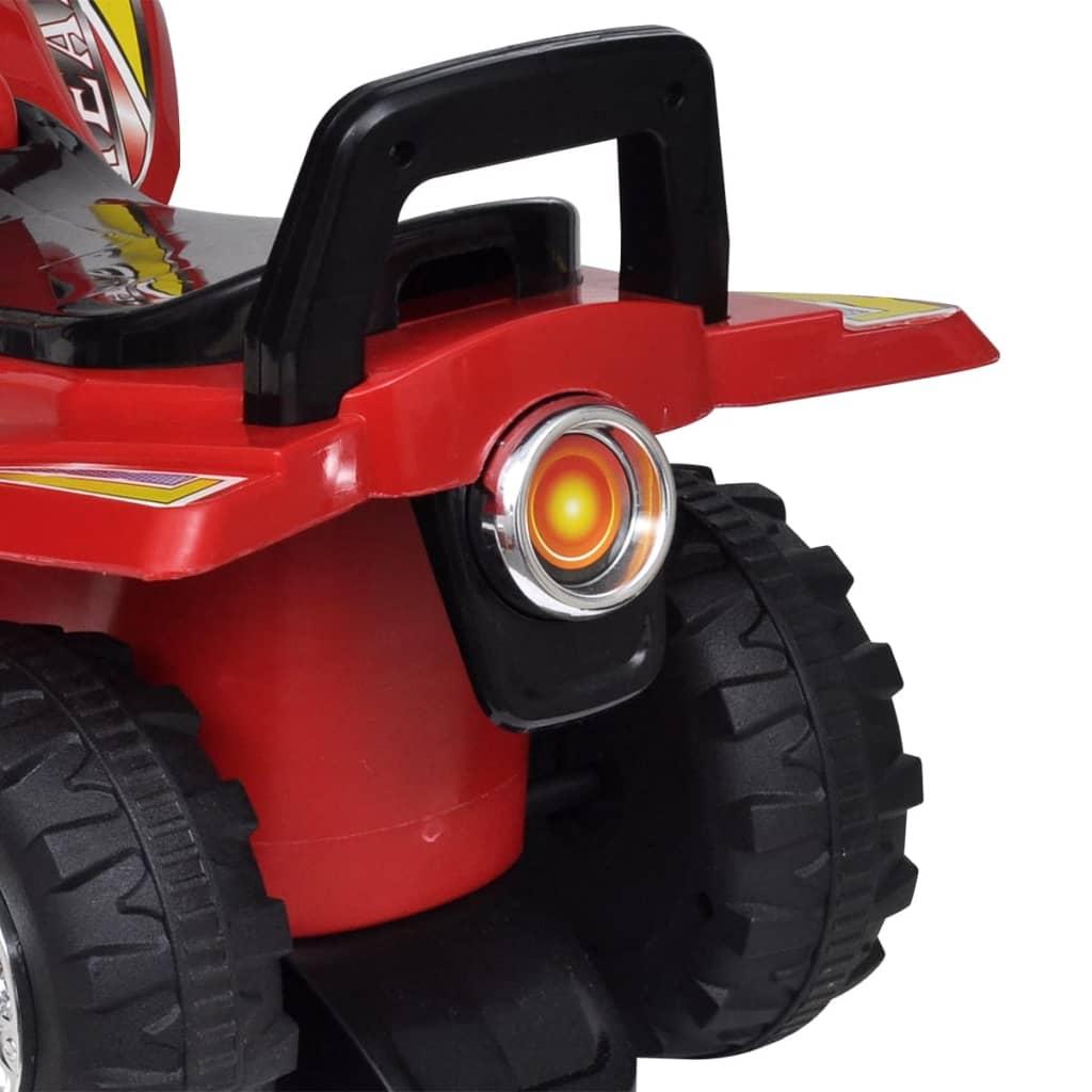 Červené dětské odrážedlo čtyřkolka se zvukem a světlem
