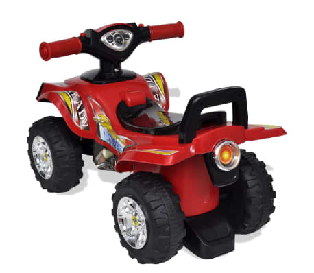 Red Children's Ride-on Quad with Sound and Light[2/6]