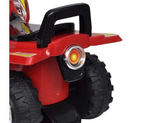 Red Children's Ride-on Quad with Sound and Light[4/6]