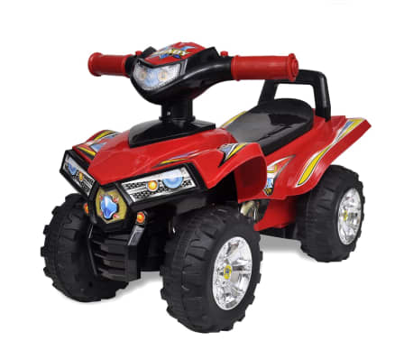 Red Children's Ride-on Quad with Sound and Light-picture