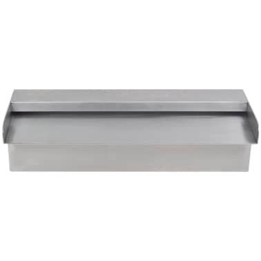 "Rectangular Waterfall Pool Fountain Stainless Steel 11.8""[3/6]"
