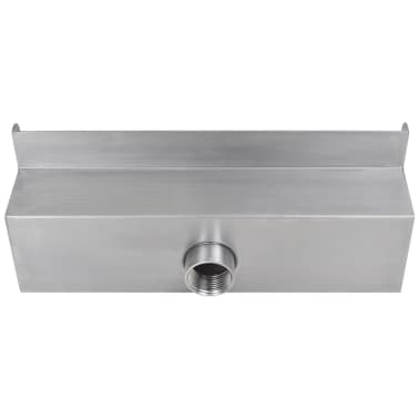 "Rectangular Waterfall Pool Fountain Stainless Steel 11.8""[4/6]"