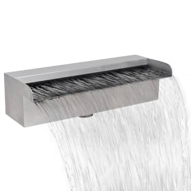 "Rectangular Waterfall Pool Fountain Stainless Steel 11.8""[1/6]"