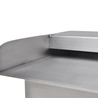 "Rectangular Waterfall Pool Fountain Stainless Steel 17.7""[6/6]"